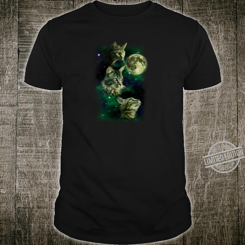 3 Cat Moon Parody Shirt