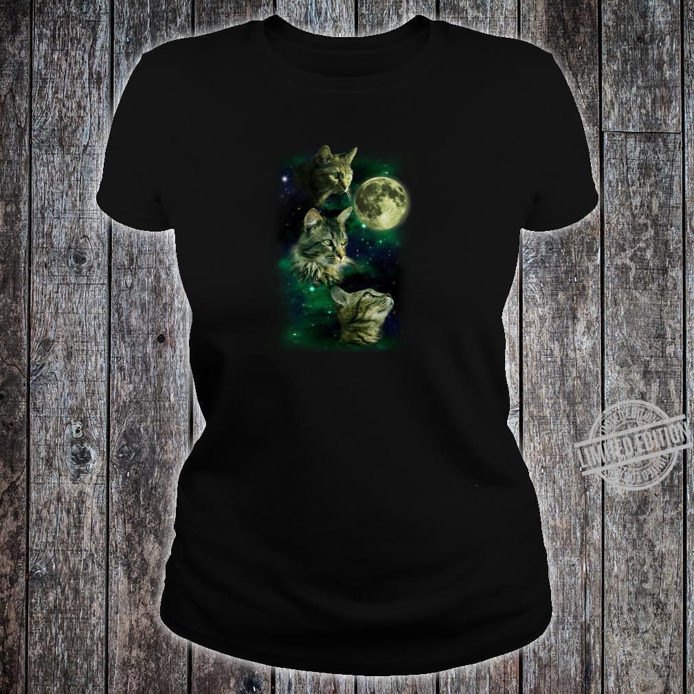 3 Cat Moon Parody Shirt ladies tee