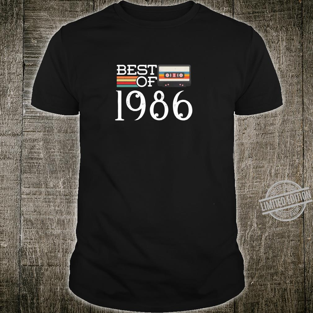 34. Geburtstagsgeschenk Best of 1986 RetroKassette Shirt