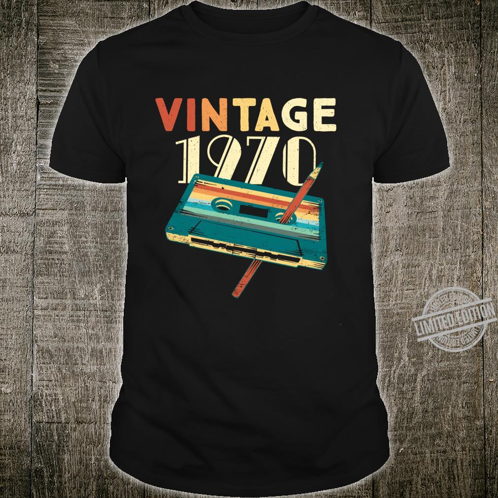 50 Years Old Vintage 1970 Music Cassette 50th Birthday Shirt