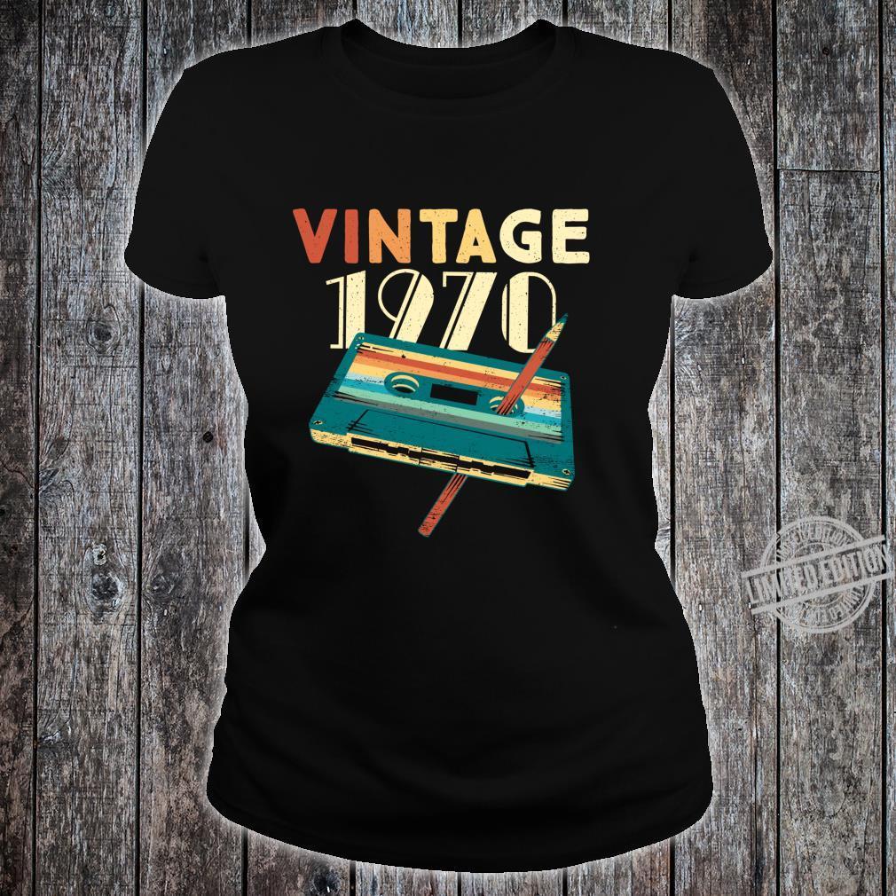 50 Years Old Vintage 1970 Music Cassette 50th Birthday Shirt ladies tee