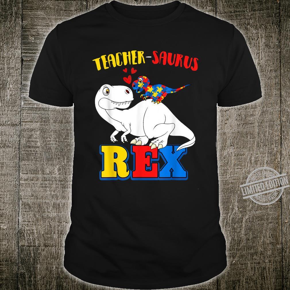 Autism Teacher Dinosaur Costume Teachersaurus Awareness Shirt