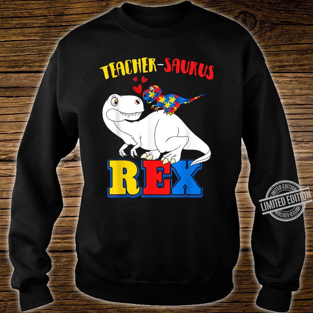 Autism Teacher Dinosaur Costume Teachersaurus Awareness Shirt sweater