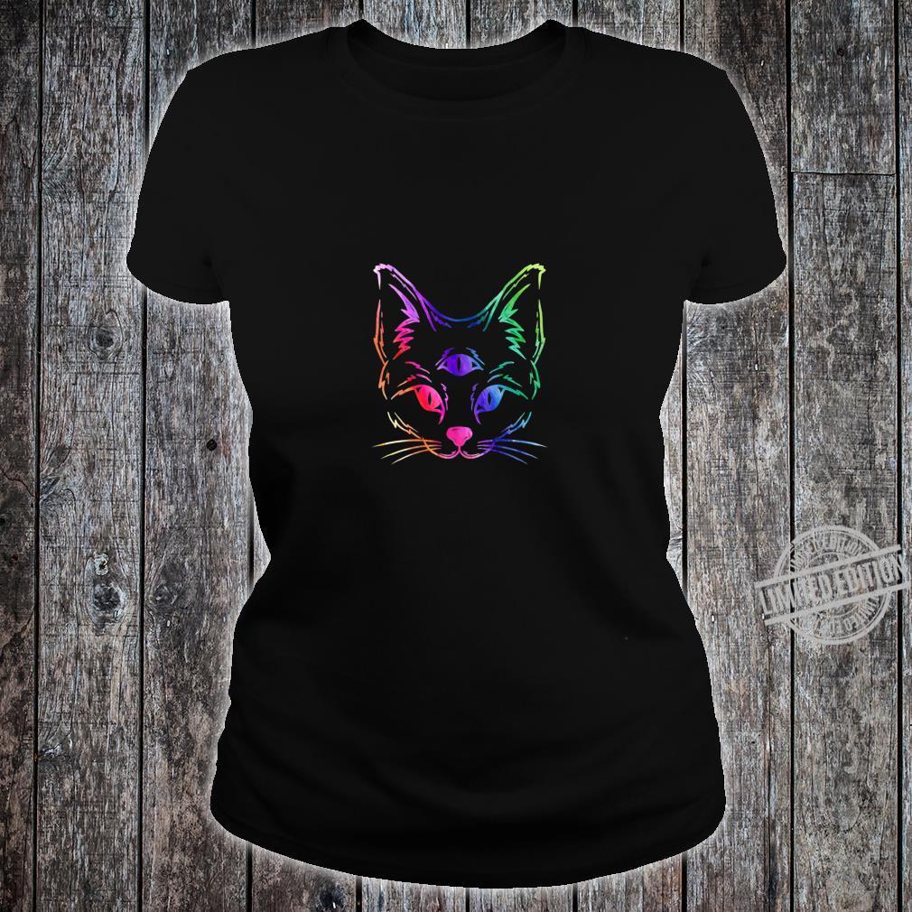 Awakened Cat Third Eye Shirt ladies tee
