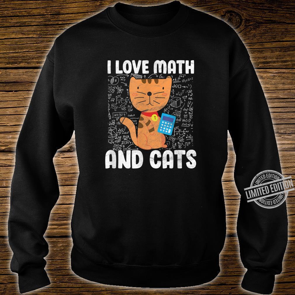 I Love Math And Cats Student Algebra Shirt sweater