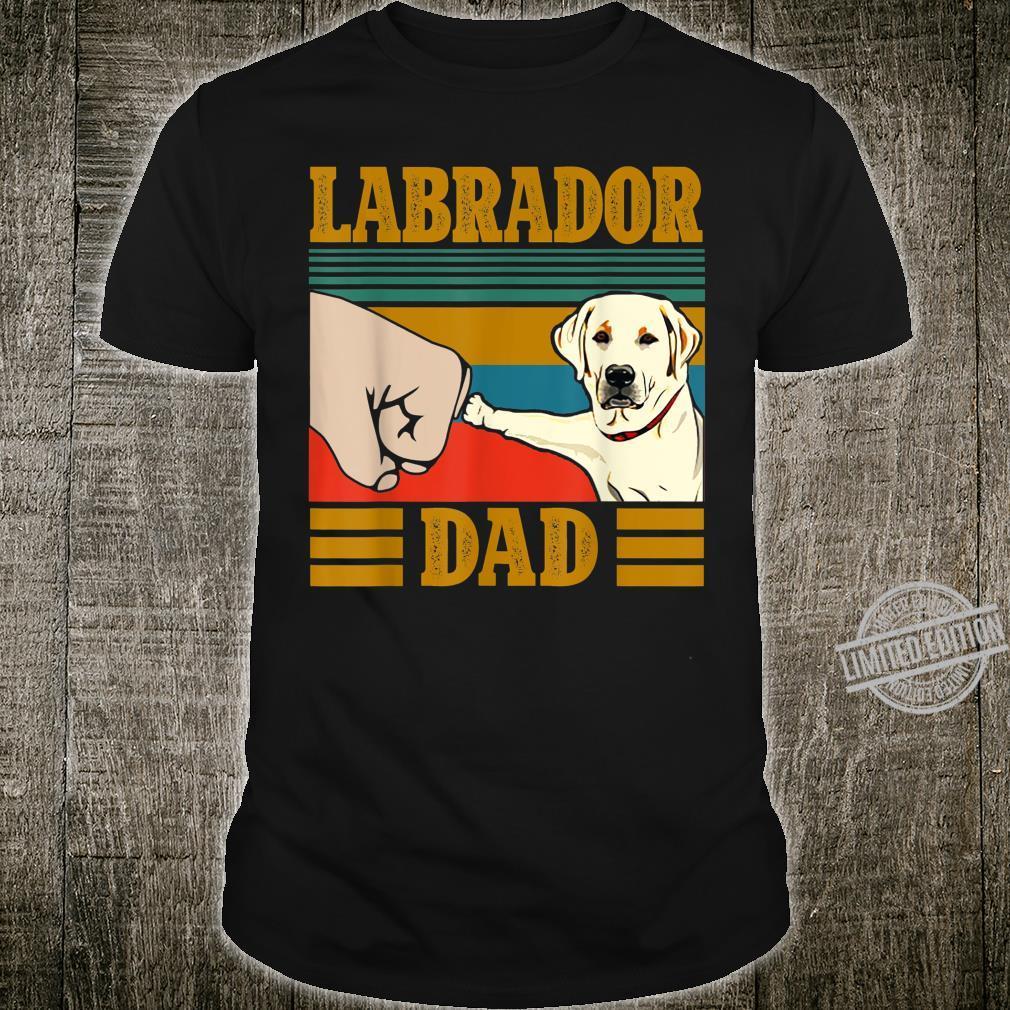 Mens Yellow Lab Labrador Dad Father Grandpa Vintage Shirt