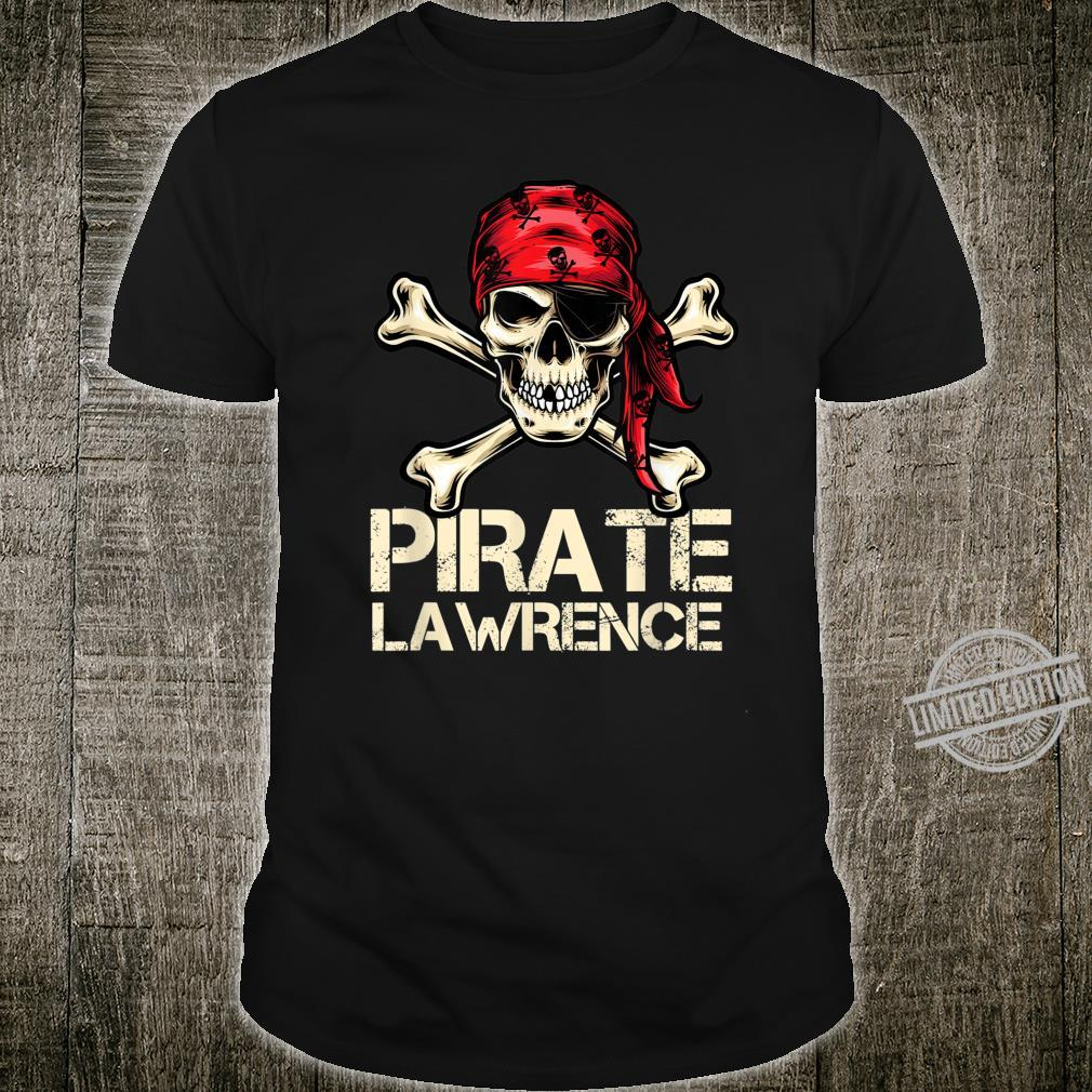 PIRATE LAWRENCE Birthday Personalized Name Boat Shirt