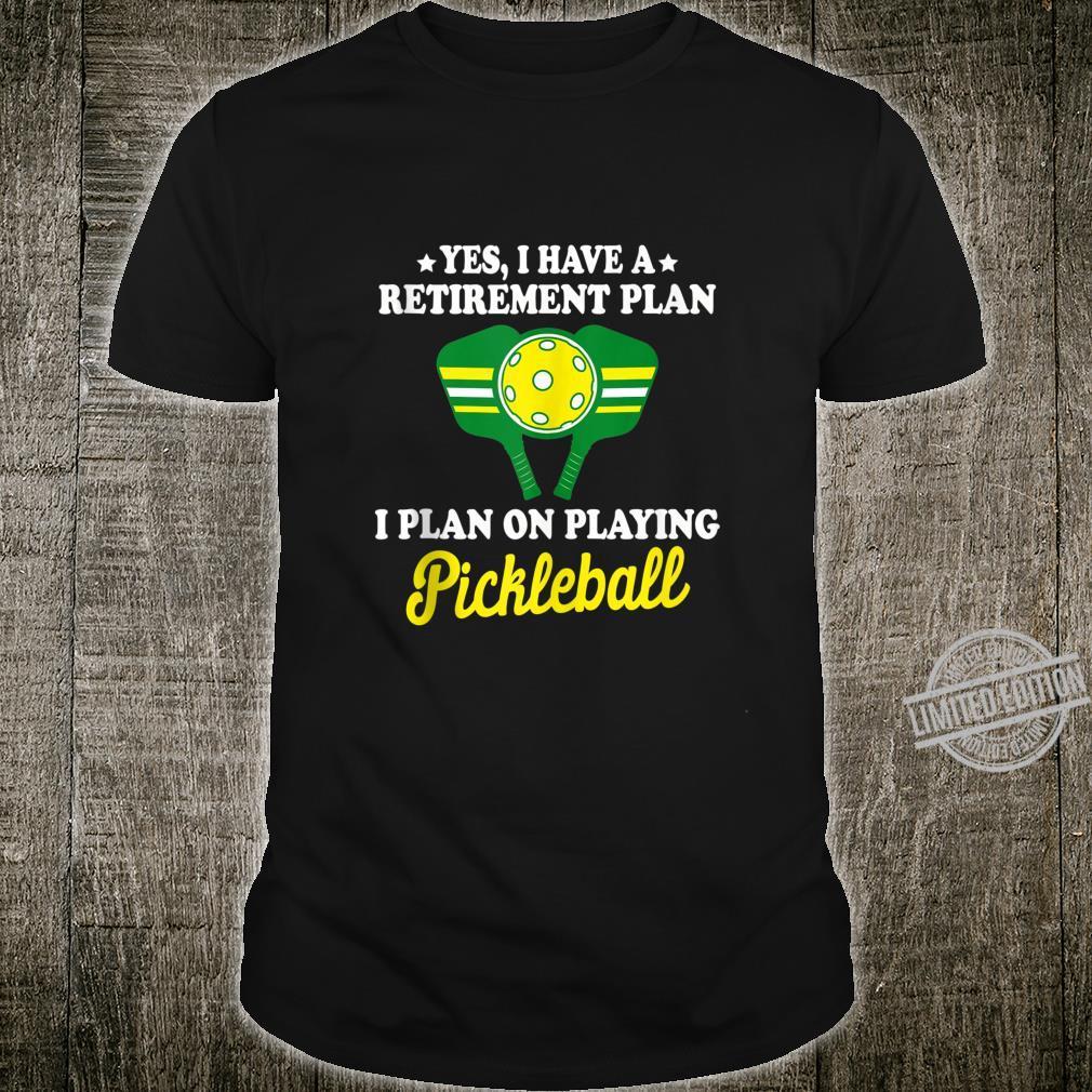 Pickleball Retirement Shirt Grandpa Dad Shirt