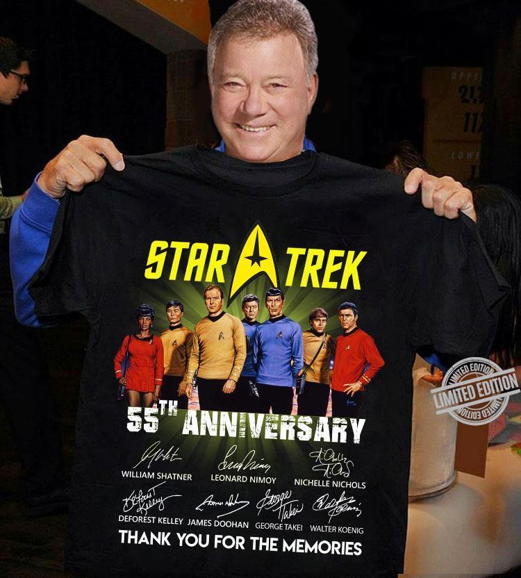 Star Trek 55th Anniversary Thank You For The Memories Shirt