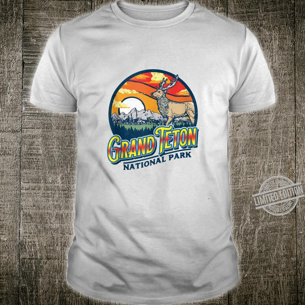 Vintage Grand Teton National Park Retro 80's Elk Shirt