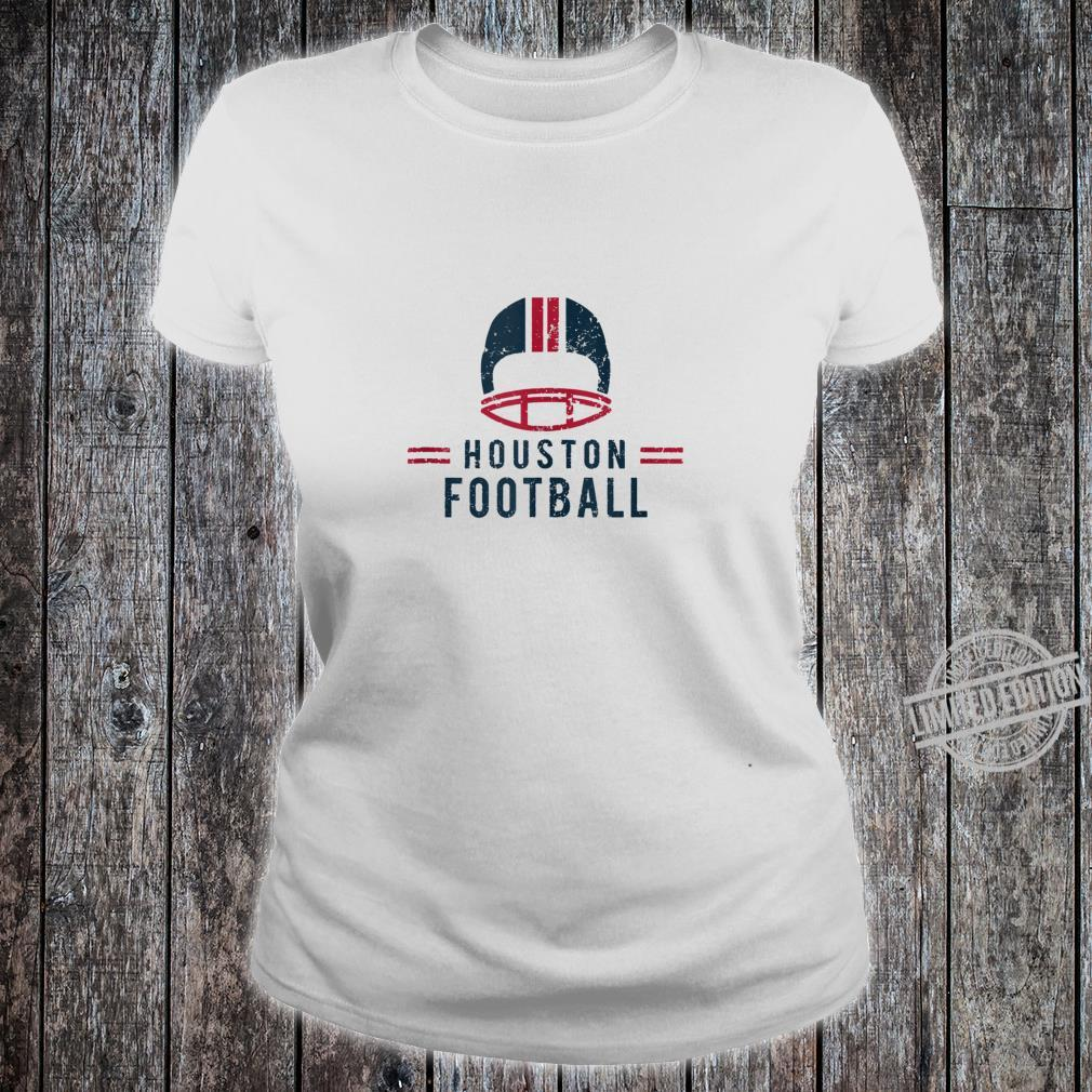 VintageHoustonFootball Classic Yeah Baby Texas Skyline Shirt ladies tee